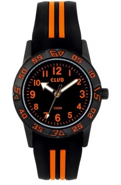 OW6186Z-ZAO CLUB GUTTEUR MED SORT OG ORANGE SILIKONREIM - VANNTETT 100M - D:31 MM