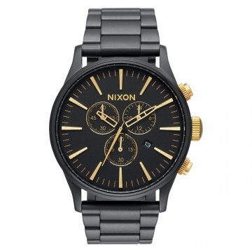 A3861041 NIXON SENTRY CHRONO - MATTE BLACK / GOLD - DIAMETER:42 MM