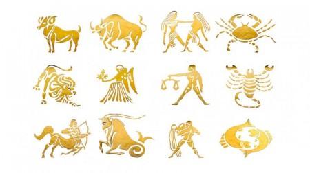 Stjernetegn i gull-utgåtte modeller