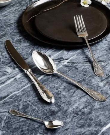 Sølv-Plett-Tinn bestikk
